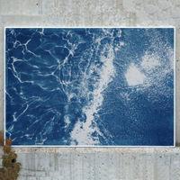 Caribbean Sandy Shore Handmade Cyanotype Art Print | Bombinate