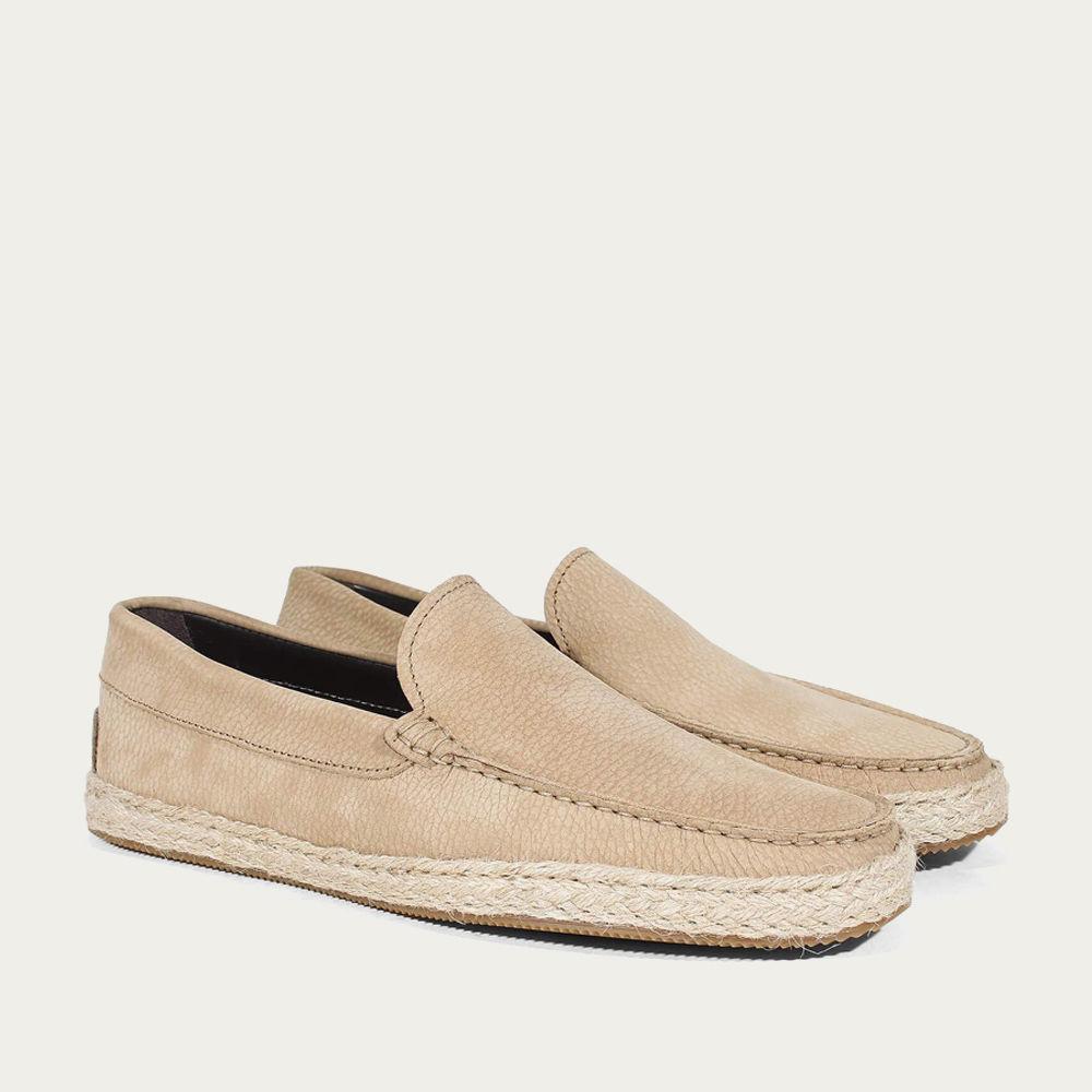 Beige Nubuck Seaside Loafer | Bombinate