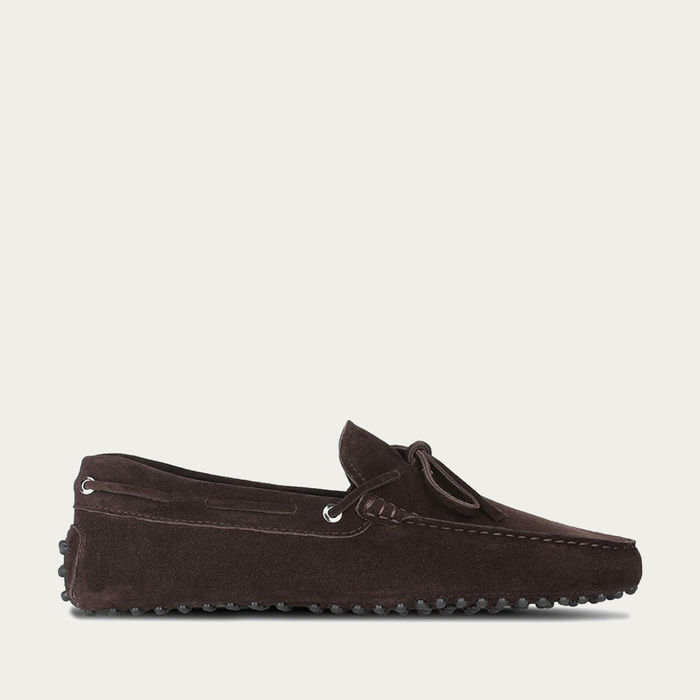 Chocolate Suede Driving Shoes   Bombinate