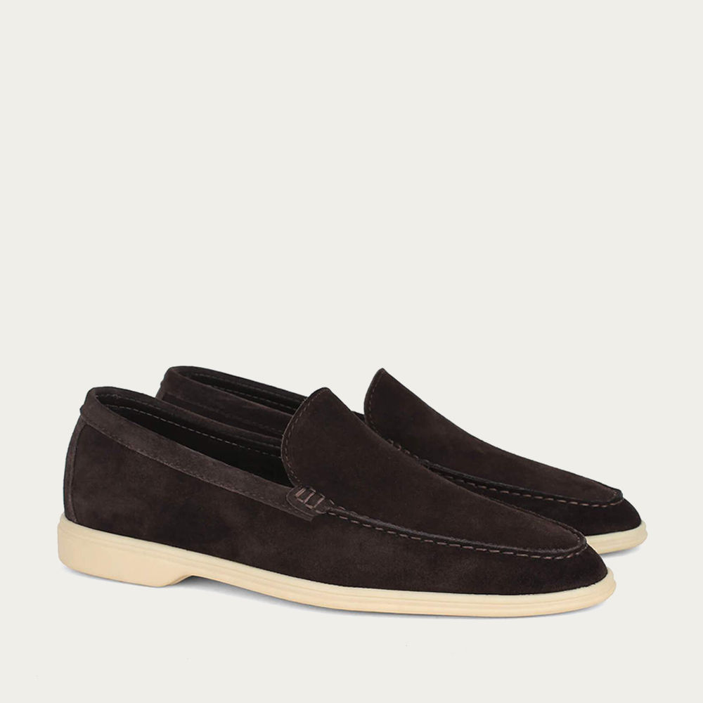Chocolate Suede Yacht Loafer | Bombinate