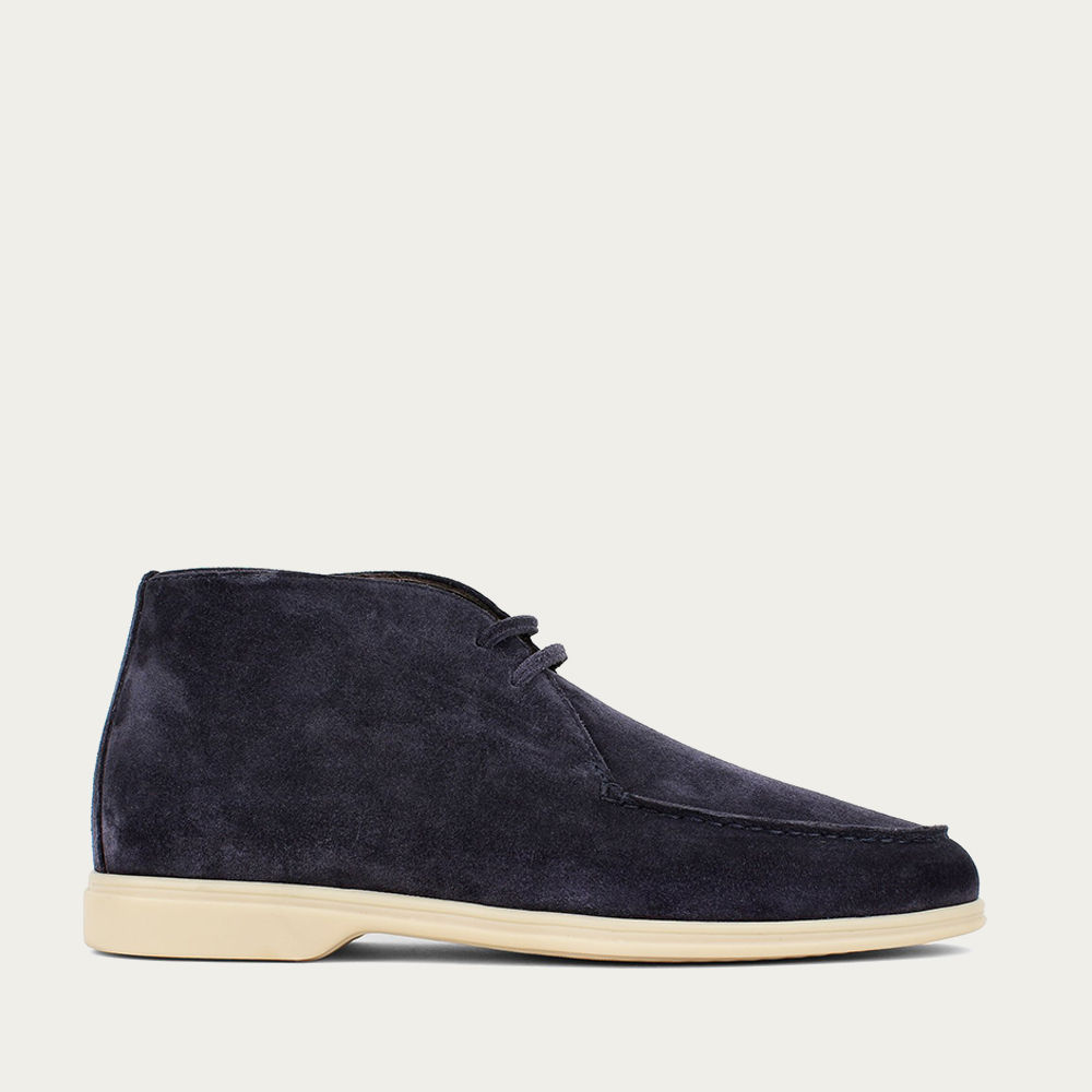 Dark Blue Suede Desert Boot | Bombinate