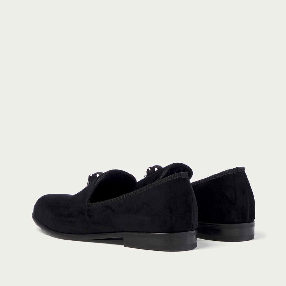 Skulled Black Duke Loafer | Bombinate