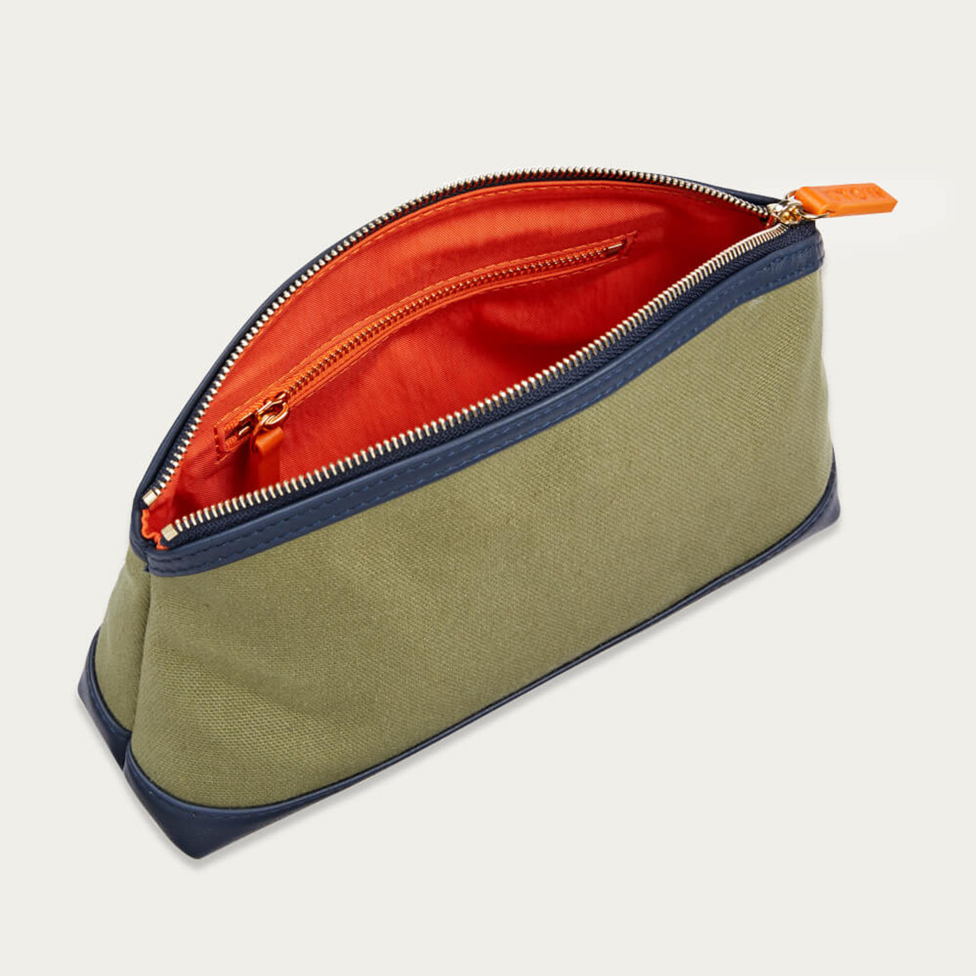 Moss & Sapphire Blue The Grooming Bag | Bombinate