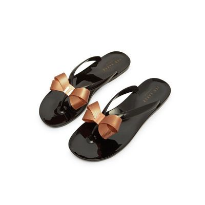 efcdae5bacce TED BAKER SUSZIE bow detail jelly flip flop