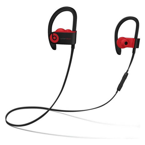 Beats By Dr Dre Powerbeats3 Wireless Bluetooth Headphones Black Red
