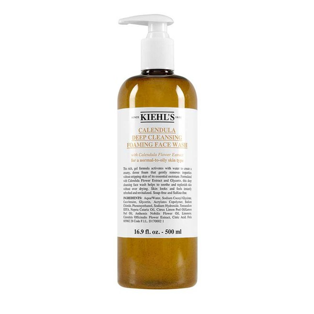 KIEHL'S Calendula Deep Cleanser Foaming Face Wash