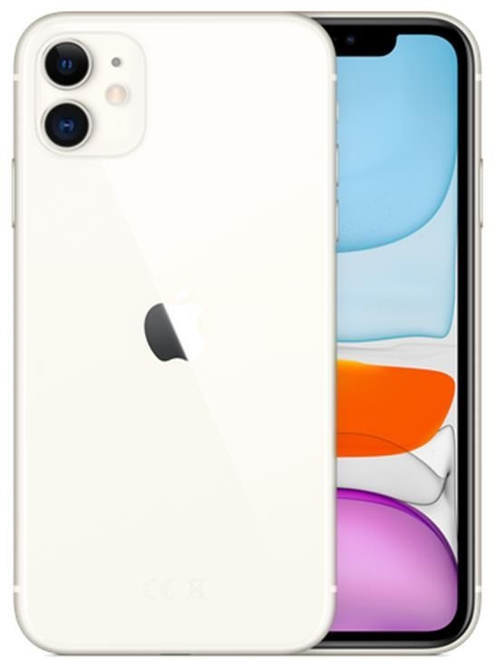 Apple iPhone 11 (6.1 inch) 64GB Smartphone (White)