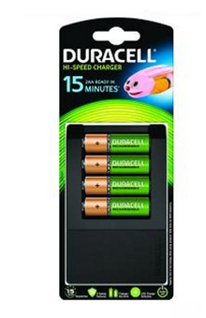 Duracell UltraFast 15 min Charger With 4 Batteries
