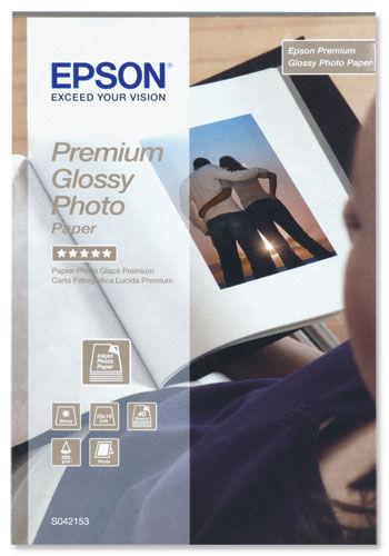 Epson Premium (10cm x 15cm) 255g/m2 Glossy Photo Paper (White) 1 Pack of 40 Sheets