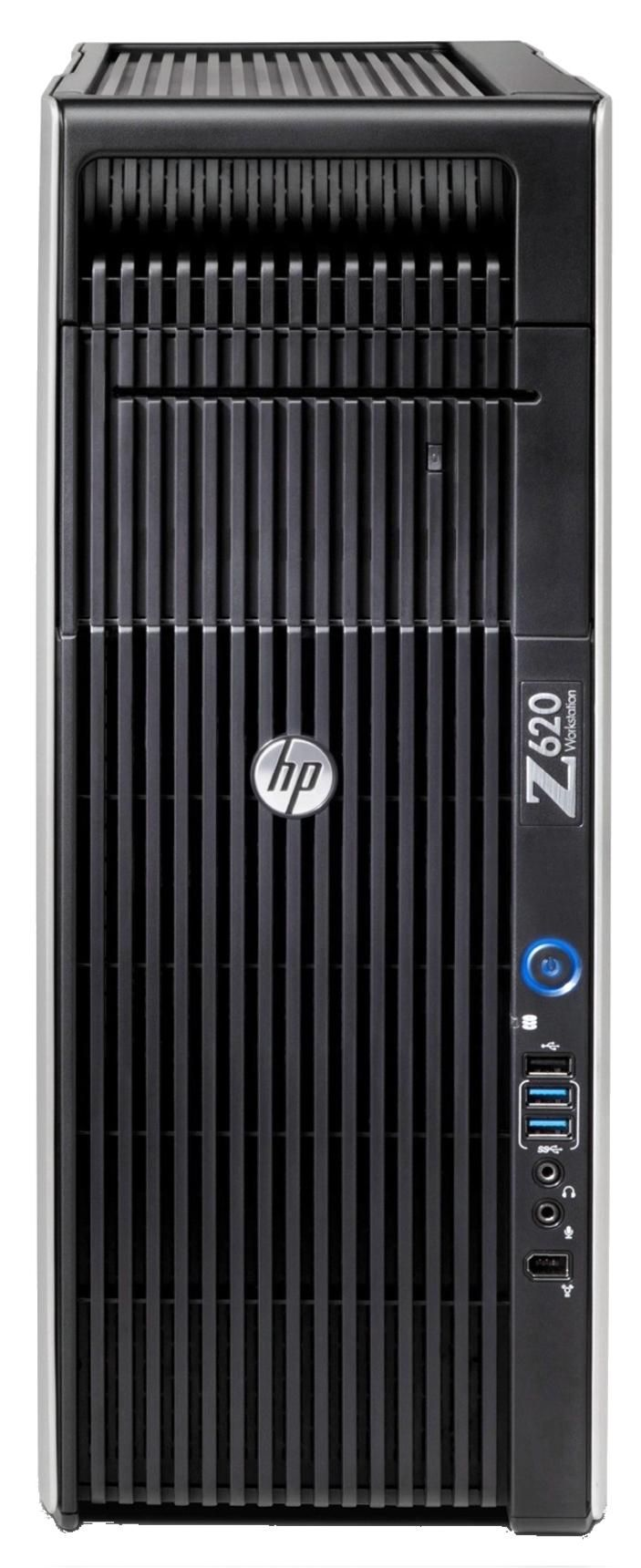 HP Z620 Workstation Xeon E5 (2620 v2) 2.1GHz 16GB 1TB DVD±RW LAN Windows 7 Pro 64-bit+Media Upgrade to Windows 8.1 Pro 64-bit (no graphics card)