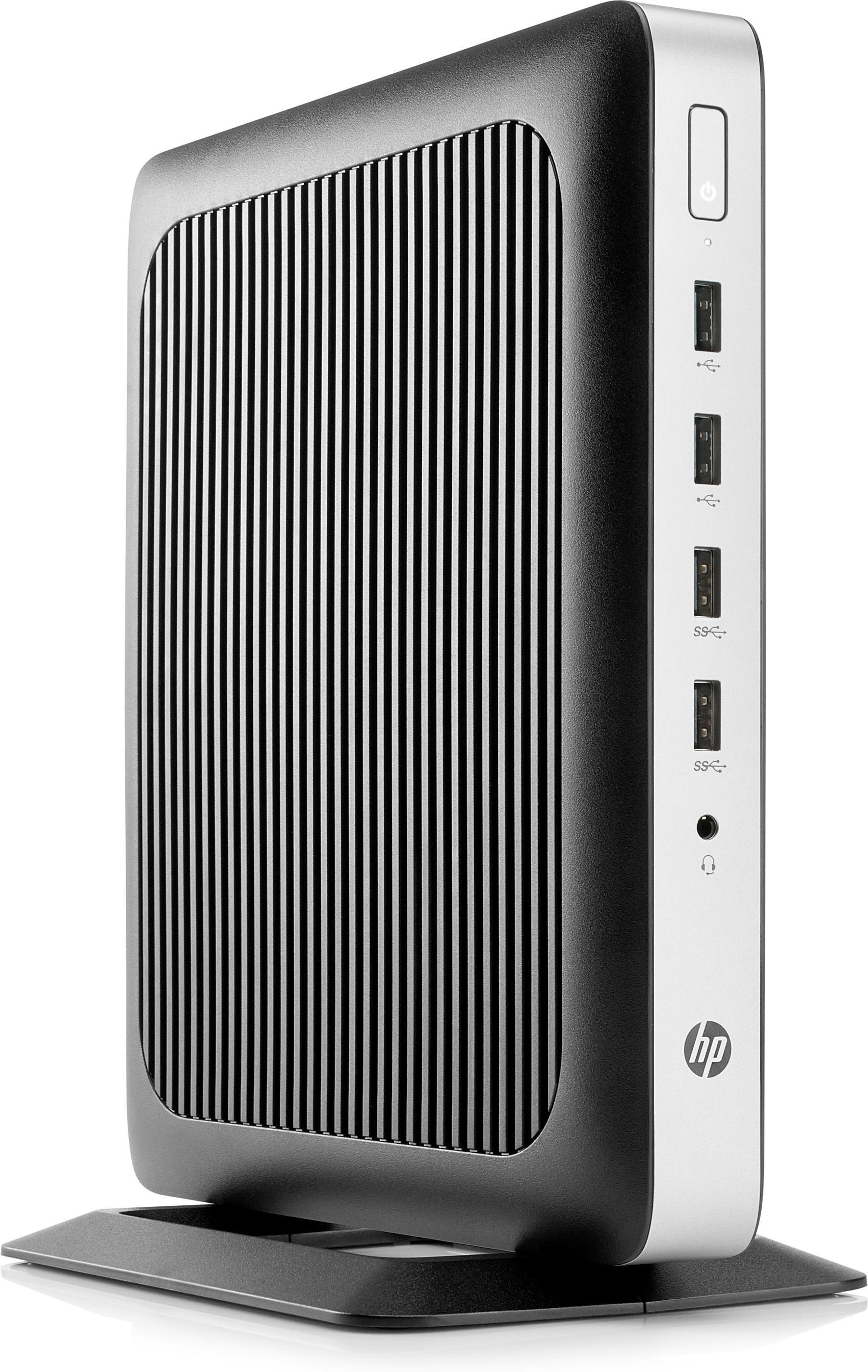 HP t630 Thin Client Quad Core (GX-420GI) 2GHz 4GB 32GB Flash WLAN BT Windows 10 IoT Enterprise 64-bit (Radeon R7E)