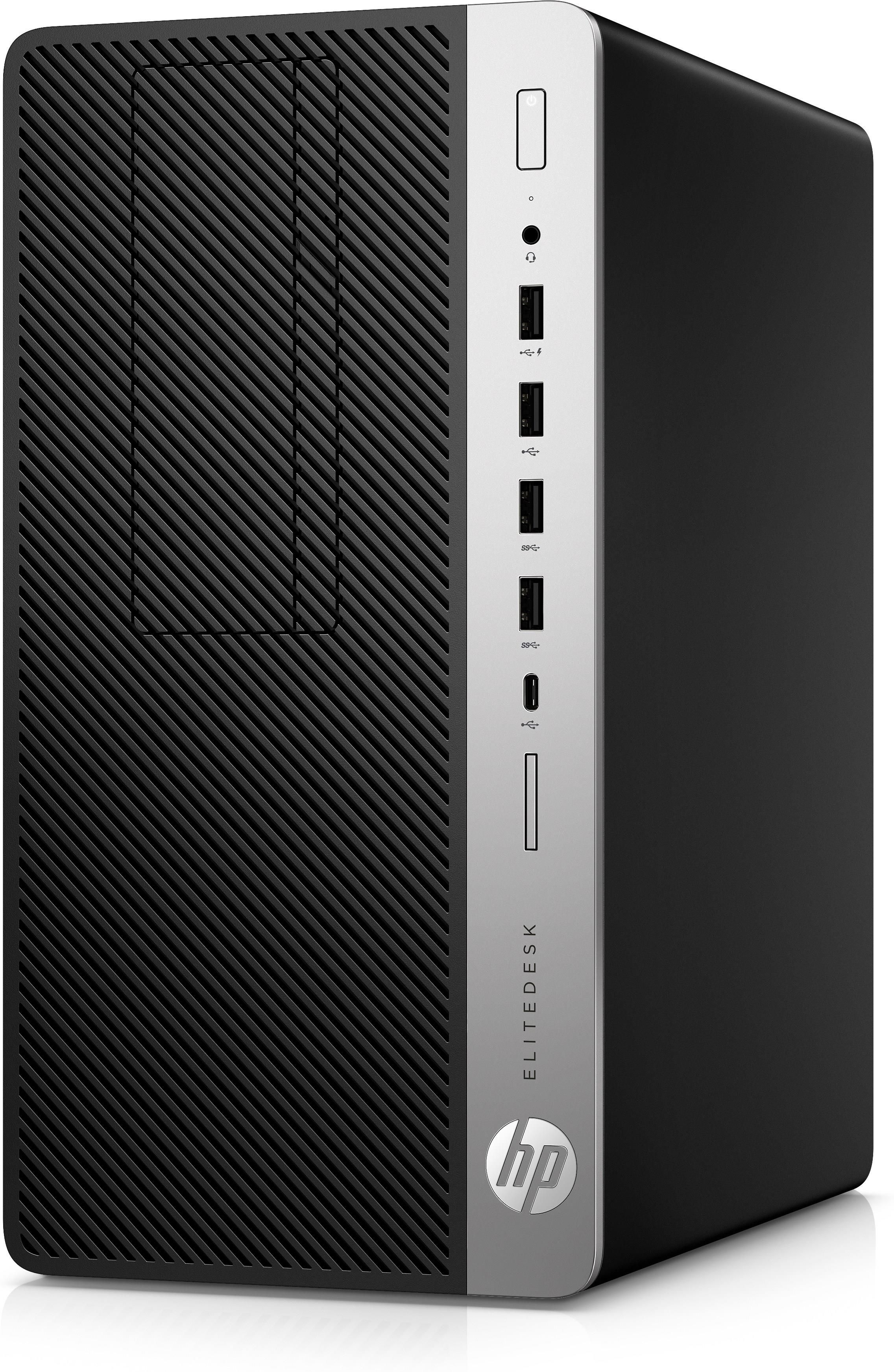 HP EliteDesk 705 G4 Microtower PC Ryzen 5 PRO (2400G) 3.6GHz 8GB 256GB SSD DVD Writer LAN Windows 10 Pro (Radeon RX Vega 11 Graphics)