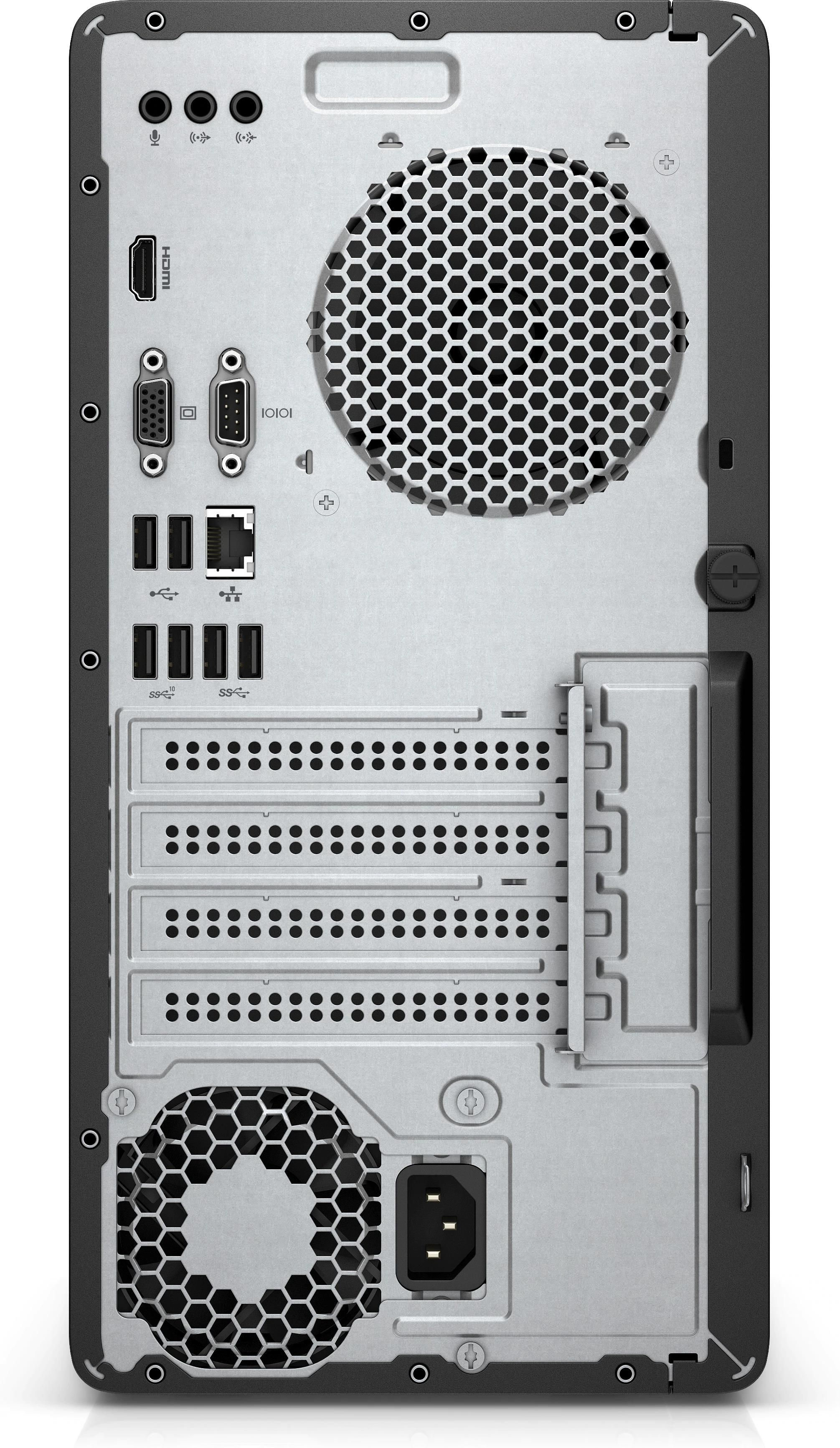 HP 285 G3 Microtower PC Ryzen 3 PRO (2200G) 3.5GHz 8GB 256GB SSD DVD Writer LAN Windows 10 Pro (Radeon Vega 8 Graphics)