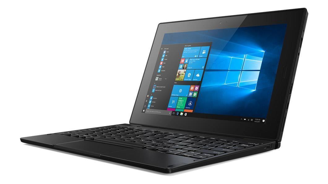 Lenovo Tablet 10 (10.1 inch Multi-Touch) Tablet PC Celeron (N4100) 1.1GHz 8GB 128GB eMMC WLAN BT Webcam Windows 10 Pro 64-bit (Integrated Intel UHD Graphics 600) Black