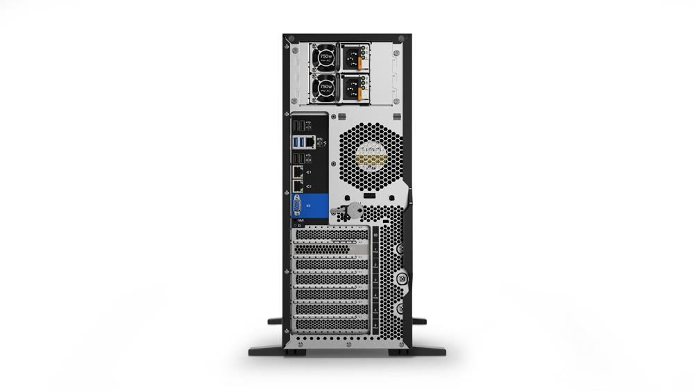 Lenovo ThinkSystem ST550 Tower Server Xeon Silver (4108) 1.8GHz 16GB (1x16GB) no HDD DVD±RW LAN (930-8i 2GB Flash) Integrated Matrox G200 (Black)
