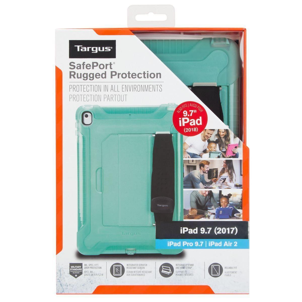 Targus SafePort Rugged Tablet Case (Teal) for Apple iPad (2018/2017)/iPad Pro (9.7 inch)/iPad Air 2 (9.7 inch)