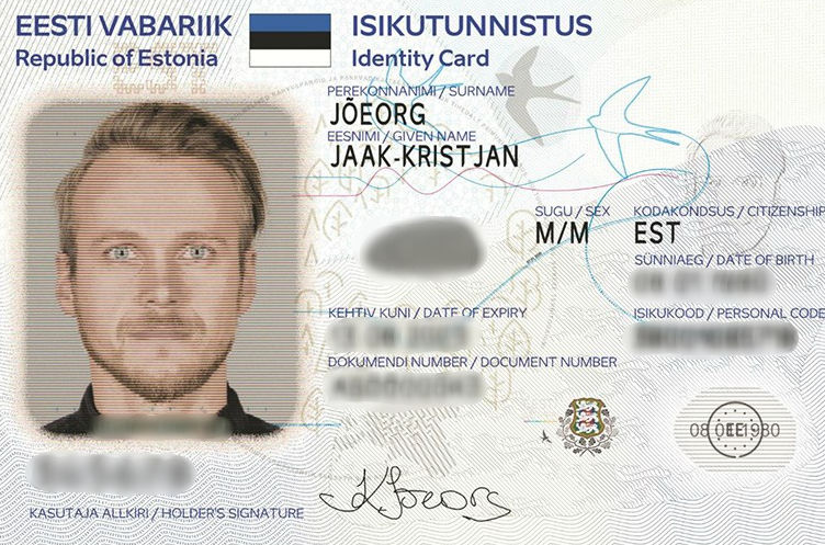 Example of an anonymized ID by blurring