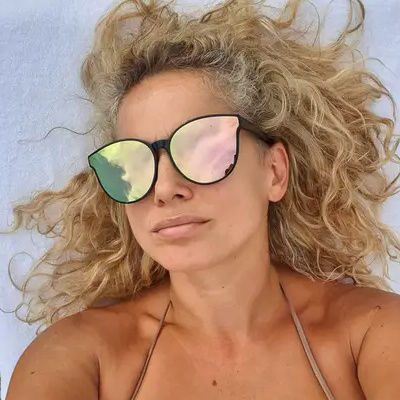 When you choose a photo with a face that is hidden behind sunglasses our face-search results might not be accurate