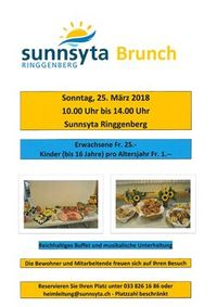 Brunch in der Sunnsyta