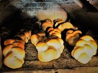 Sale of fresh bread from the Wood – Oven
