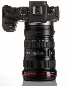 canon eos RP dslr camera with lens