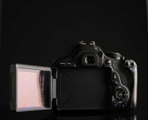 dslr camera back display