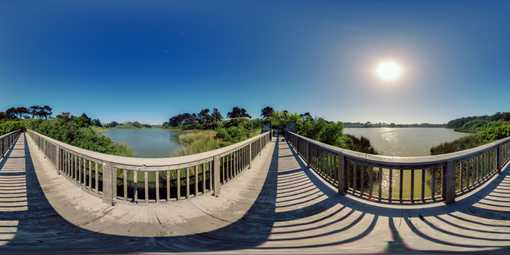 wood bridge 360 panorama