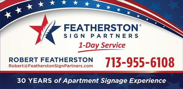 Featherston Sign Partners Ad created by the Tell Your Tale Graphic Design team.