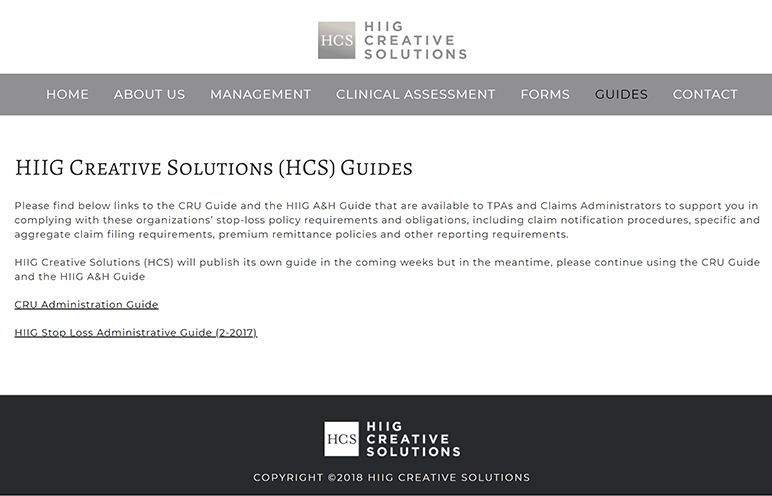 HIIG Creative Solutions - guides page