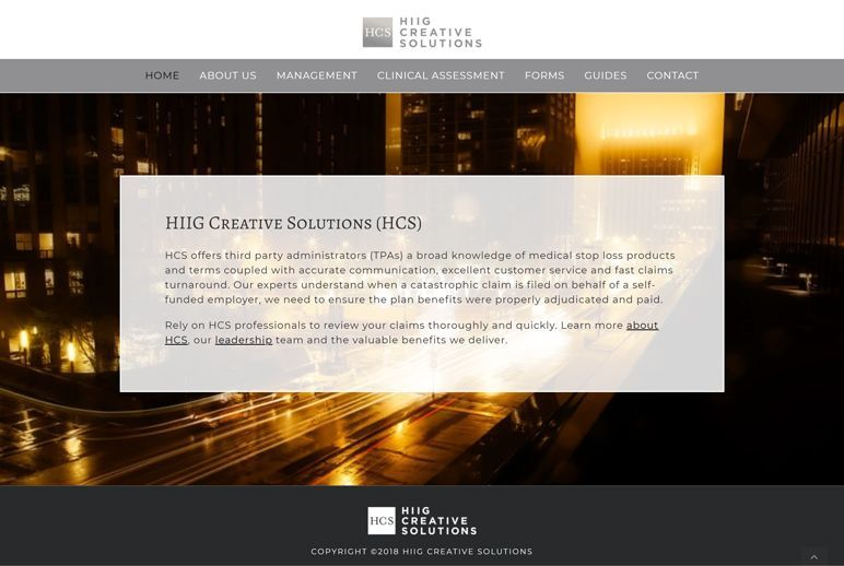HIIG Creative Solutions - home page