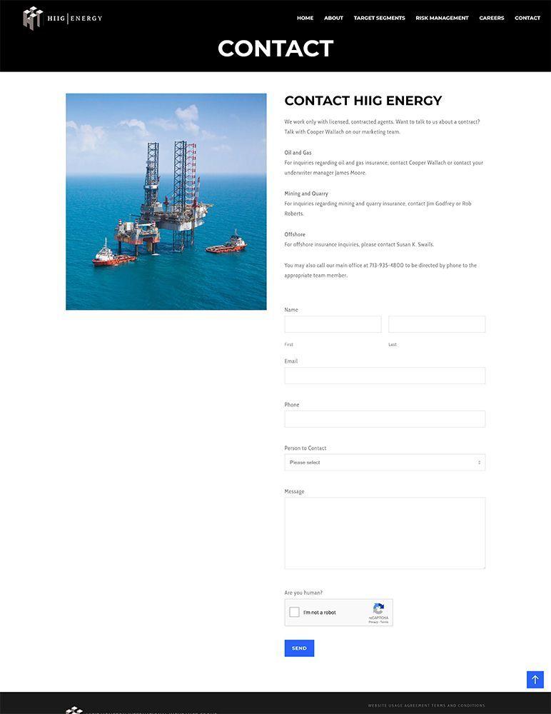 HIIG Energy - contact page