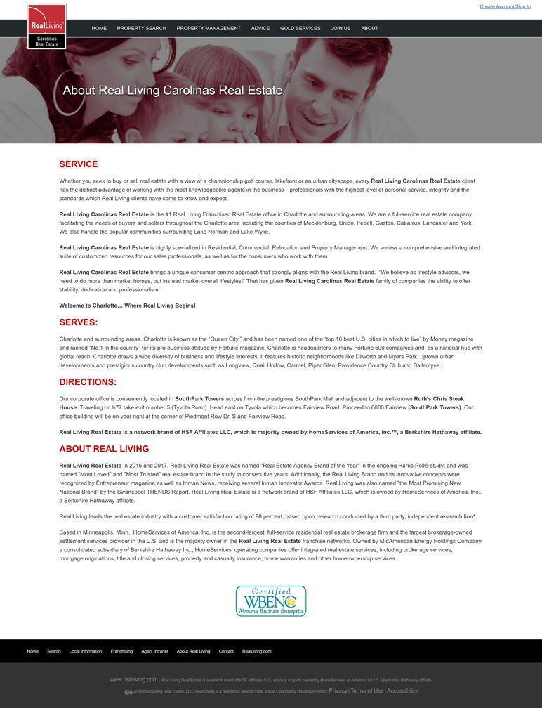 Real Living Carolinas Real Estate - about page
