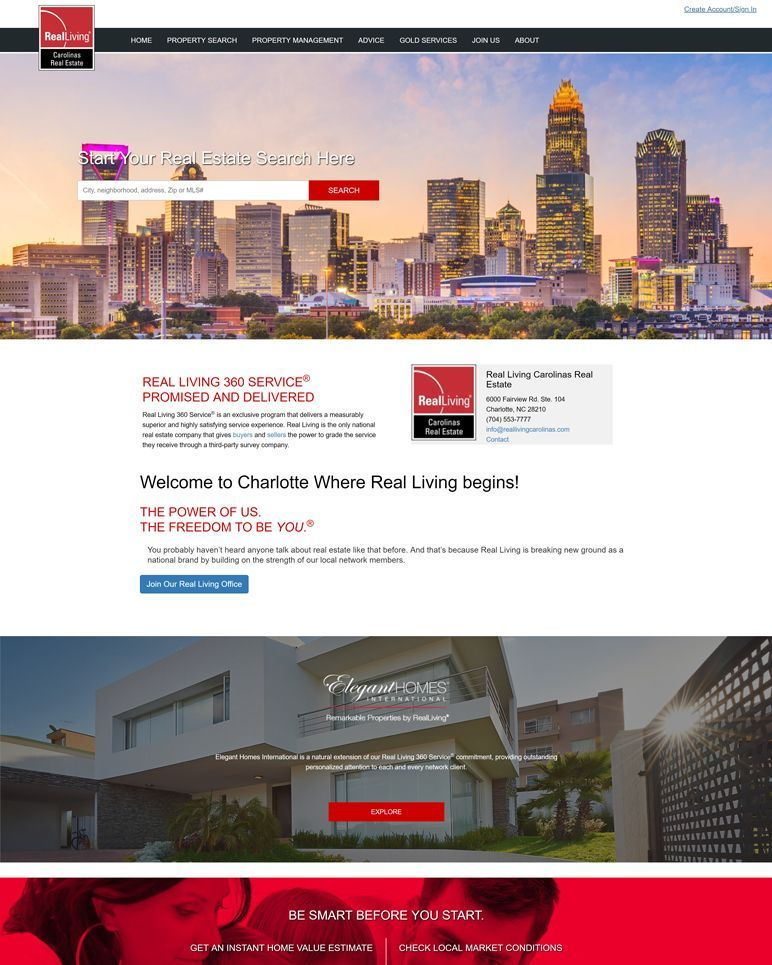 Real Living Carolinas Real Estate - home page