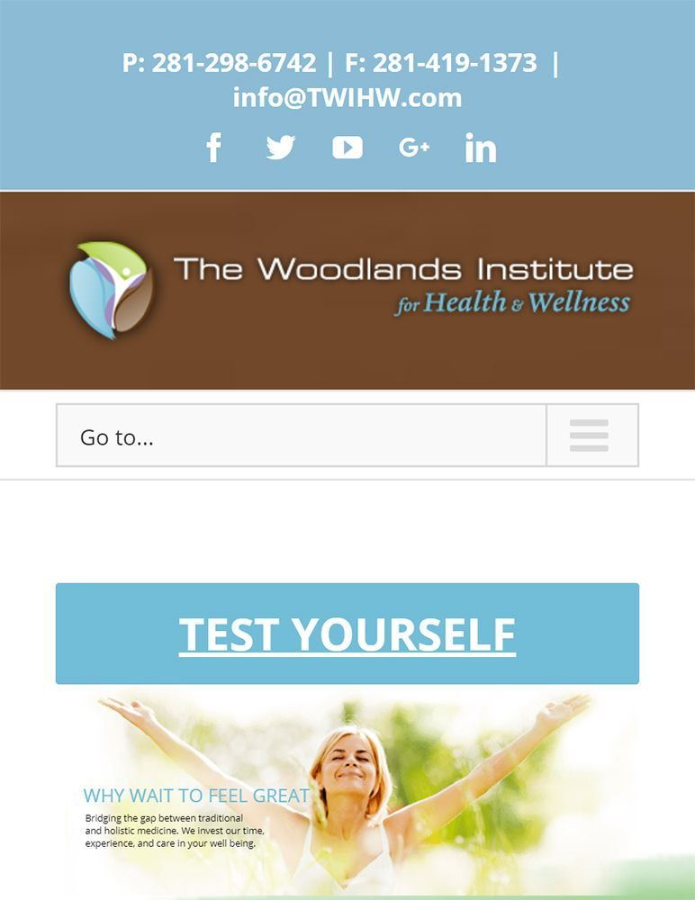 The Woodlands Wellness Institute for Health and Wellness - home mobile view