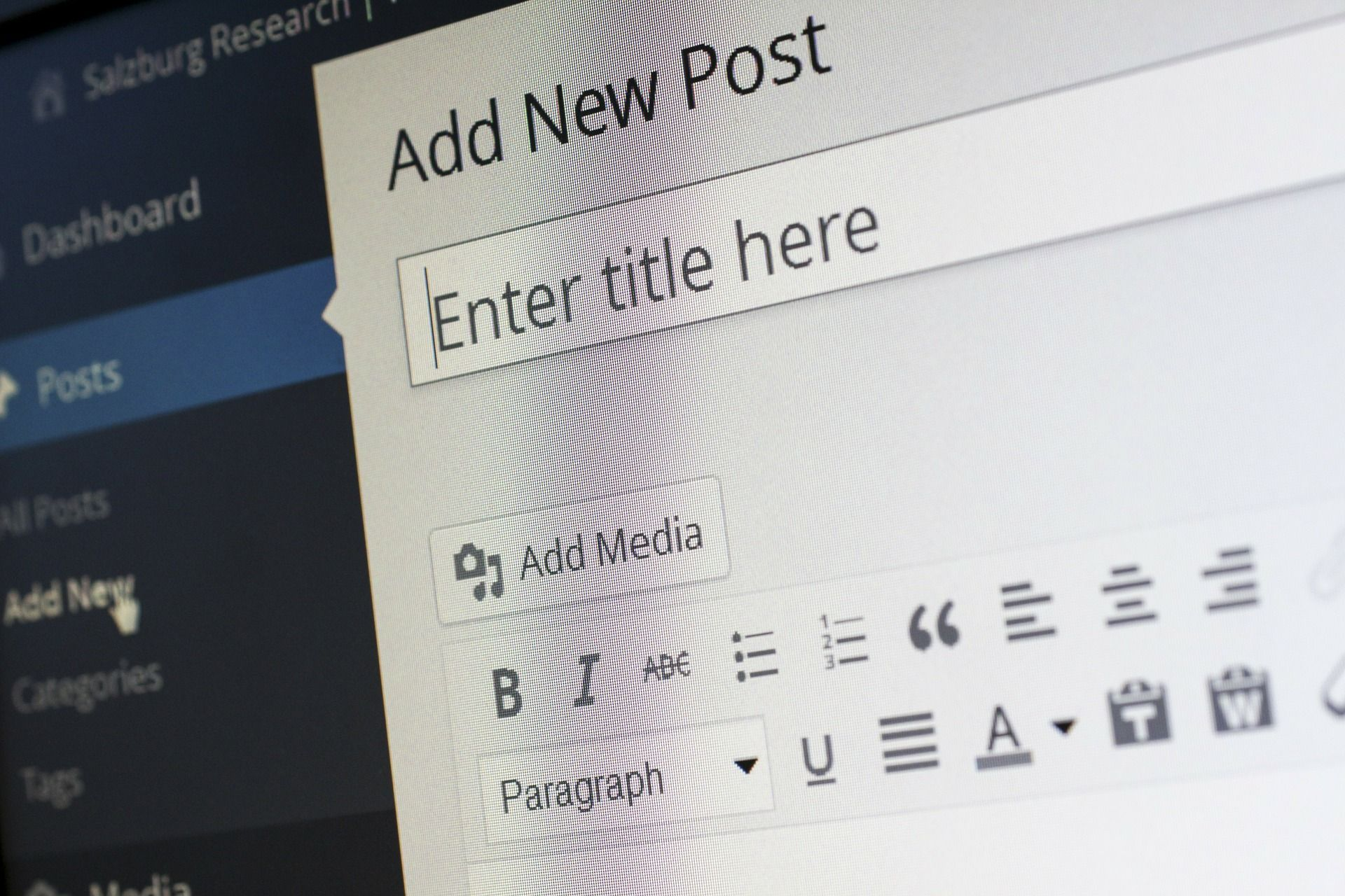 WordPress blogs offer easy ways to generate content.