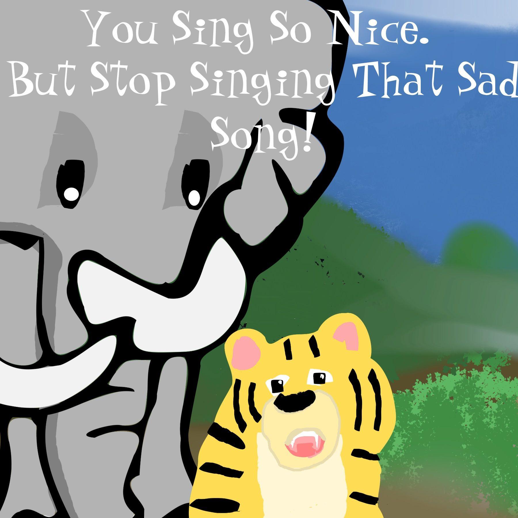 tiger singer cartoon