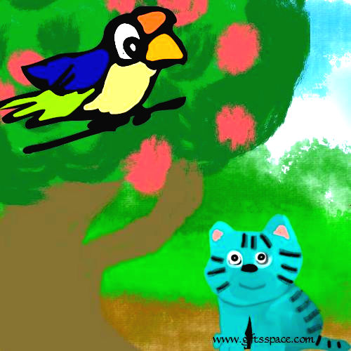 bird and the cat