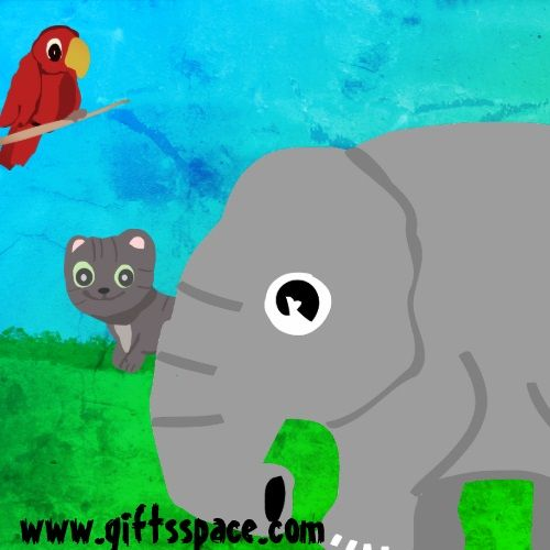 Baby Cat's First Elephant Experience