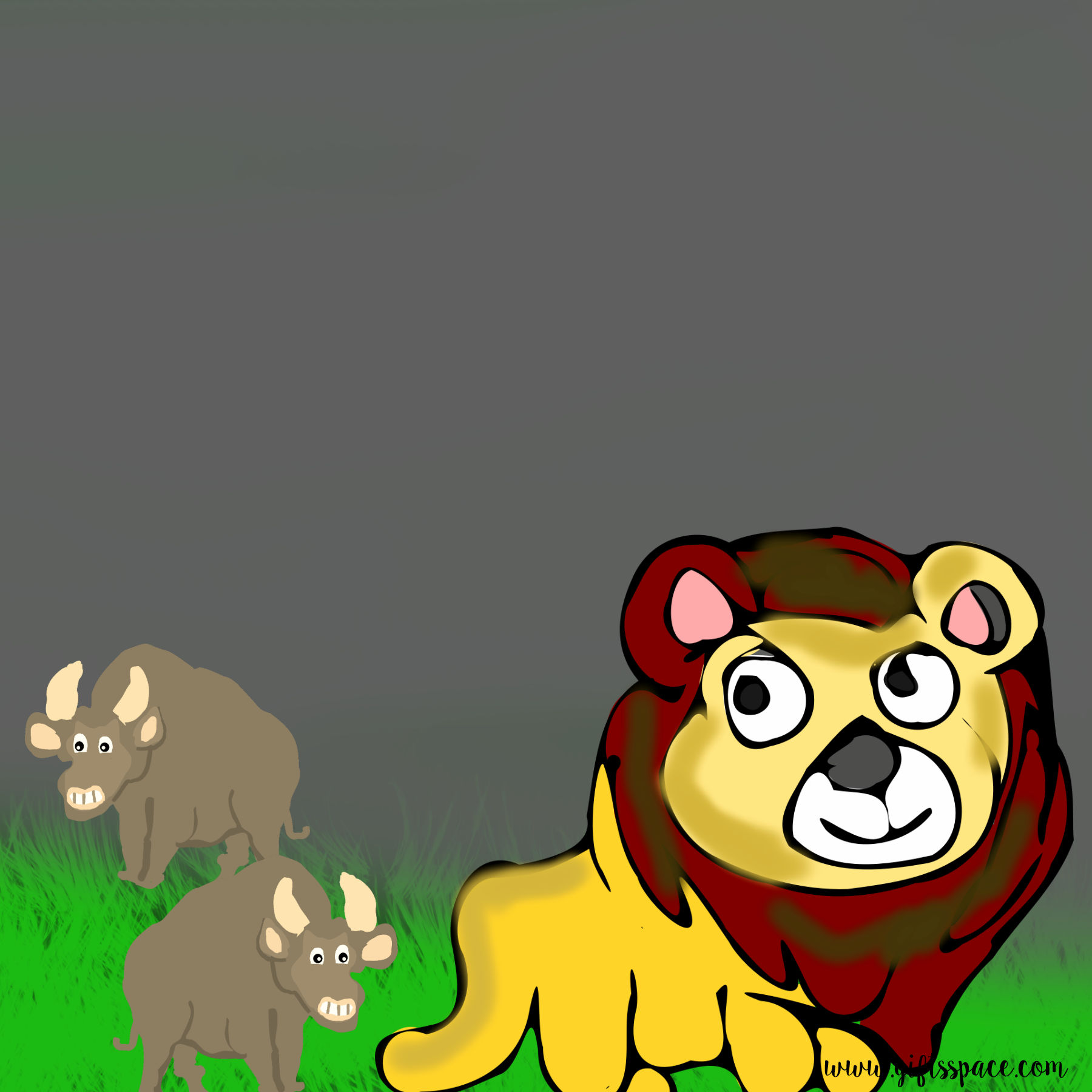 Bulls And The Lion Story