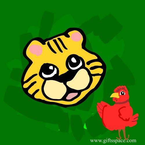 tiger and the rooster