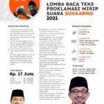 Ikuti Lomba Baca Teks Proklamasi Mirip Suara Soekarno 2021