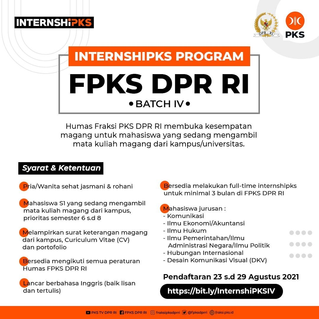 InternshiPKS Program Fraksi PKS DPR RI