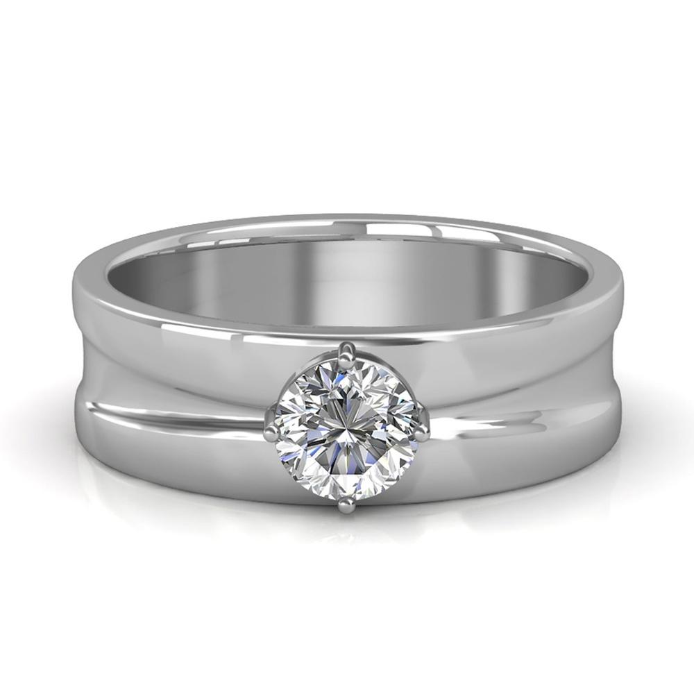 19018f07598 Sarvada Jewels  The Prius Ring For Him - White - 0.90 carat