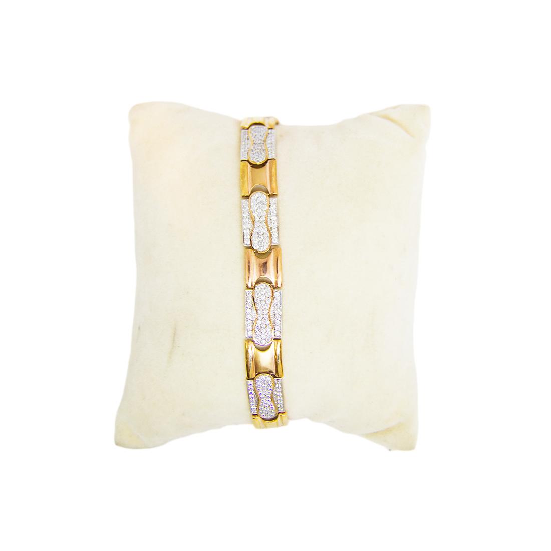 Anjalee Jewellers 18K Gold Bracelet studded with CZ Diamonds 18CLK/20