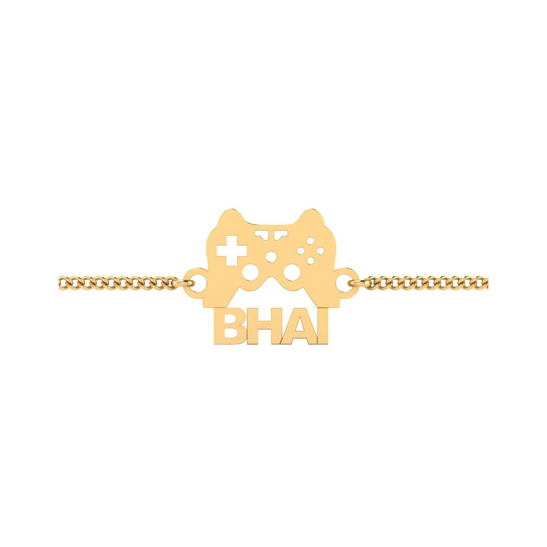 Game Lover Bhai Silver Rakhi Bracelet