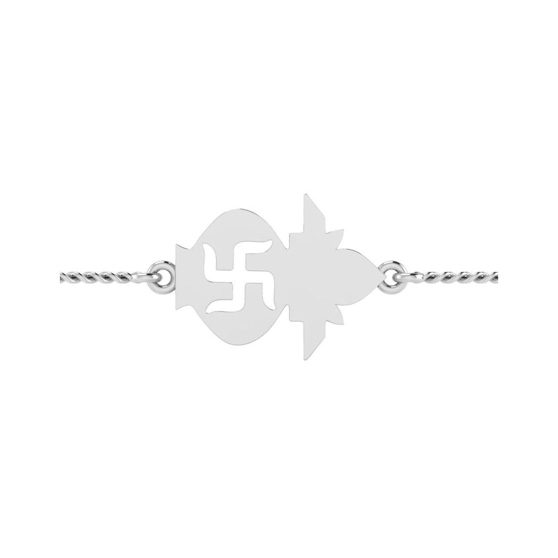 ISKI USKI 925 Silver Rakhi for Brother B-0008WRCSE