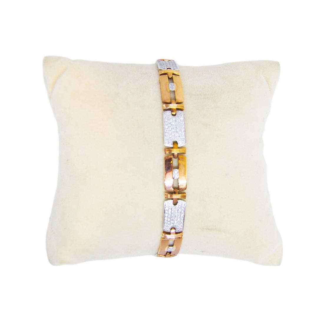 Anjalee Jewellers 18K Gold Bracelet studded with CZ Diamonds 18CLK/4