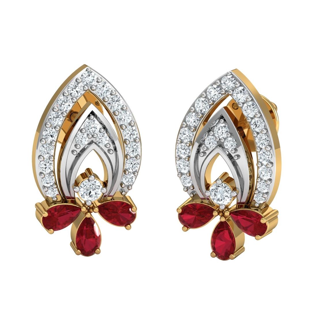 Arkina Diamond's dual stone beauty earring