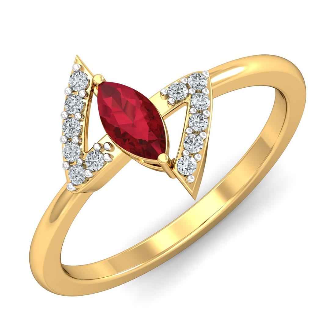 Arkina Diamond's Red Stone fashion ring