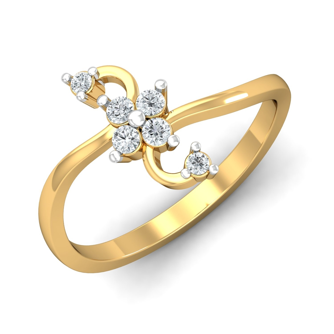 Arkina Diamond's twisted stylish floral ring